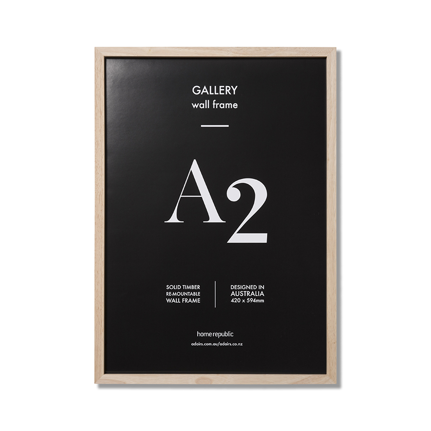 Home Republic Gallery Frame A1 Natural Wall Frame Homewares