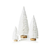 Frosted Pine Table Trees Pack of 3 White