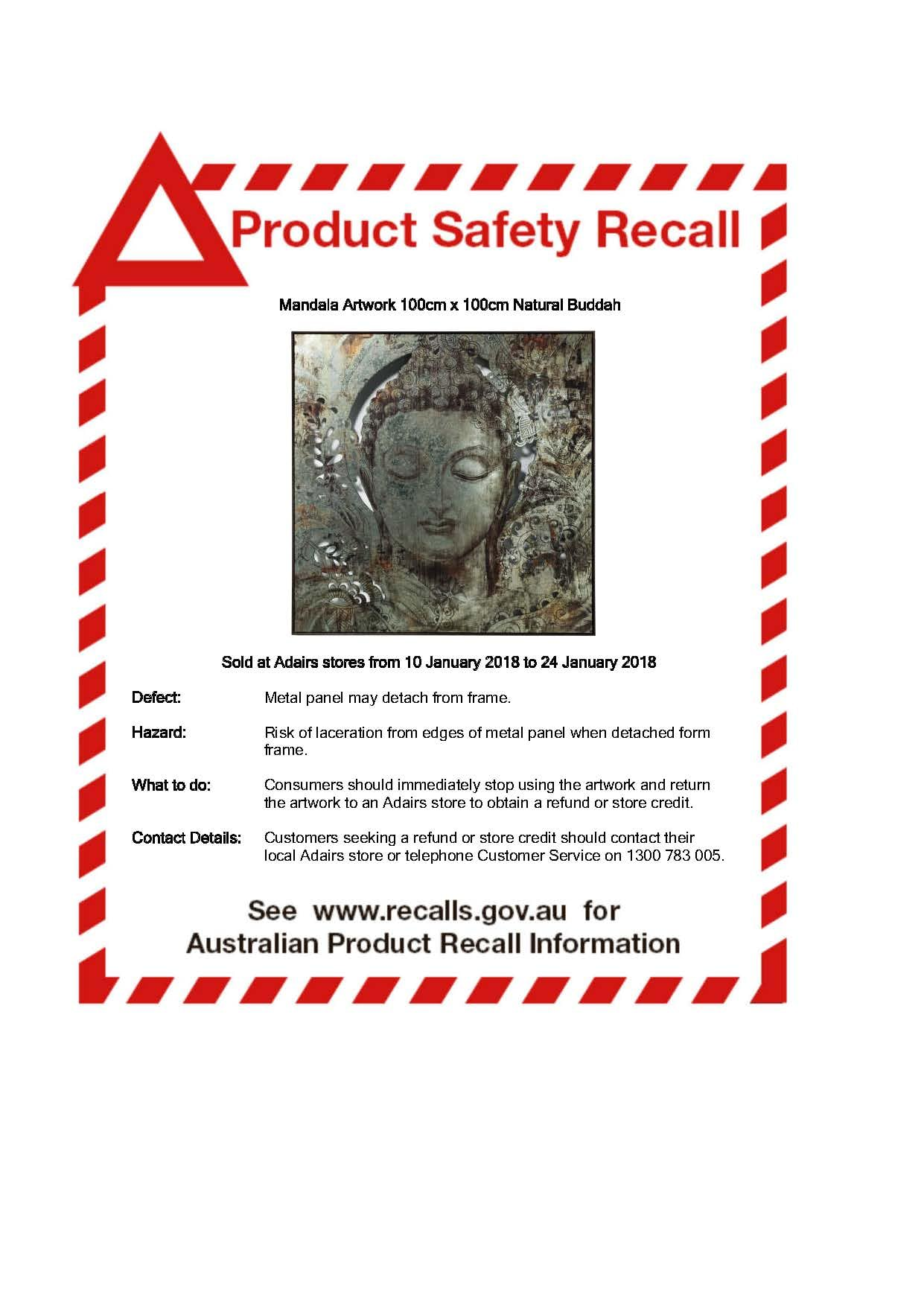 Product Recall Notice - Mandala Wall Art